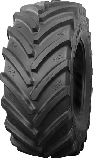 The new Agriflex 372 IF 1250/50R32 CFO is designed to minimize soil compaction and withstand the cycles of loading and unloading experienced during harvest.