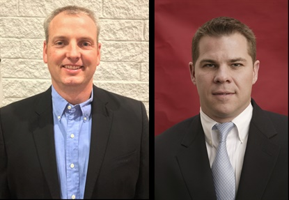 Allen Lyons, left, will lead aftermarket sales for Alliance in the West and Canada, while Seth Walters, right, will lead aftermarket sales for the East.