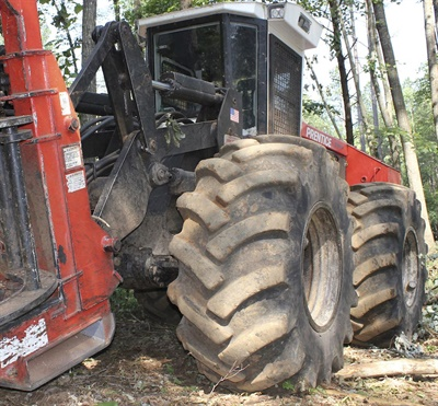 """The Southeastern Wood Producers Association cited excellent durability as one reason for naming Primex brand tires its """"Tire of Choice."""""""