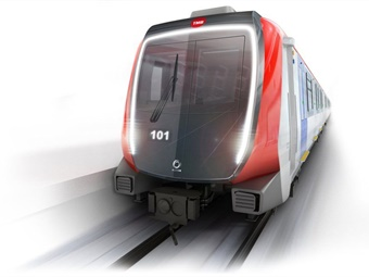 Rendering of an Alstom Metropolis train for Barcelona Metro operator TMB. Alstom Design & Styling