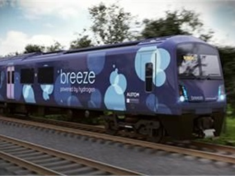 Alstom and UK-based rolling stock operating company, Eversholt Rail, have unveiled the design of new hydrogen train for the UK market. Photo: (C) Alstom-Eversholt Rail
