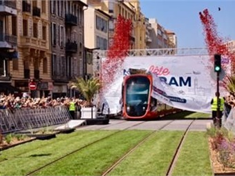 Alstom's Citadis X05 for Métropole Nice Côte d'Azur. Photo: Ville de Nice