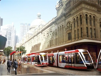 Testing and commissioning of the new light rail vehicles will take place in Sydney later in the year. Image: Alstom