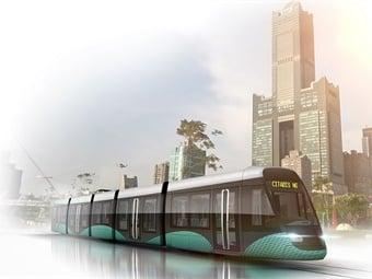 Rendering of Alstom's Citadis XO5 tram for Taiwan. Courtesy: Alstom