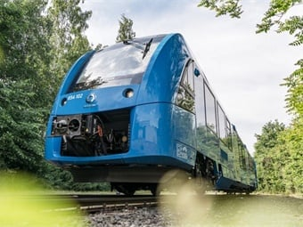The Coradia iLint is the world's first passenger train powered by a hydrogen fuel cell, which produces electrical power for traction.