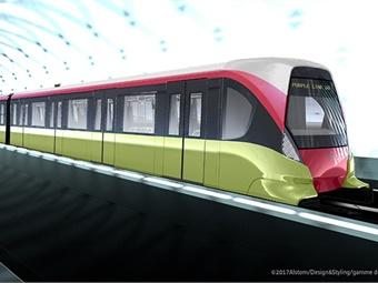Alstom Hanoi Metro rendering via Alstom / Design & Styling