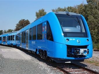 Coradia iLint is the world's first low-floor passenger train powered by a hydrogen fuel cell, which produces electrical power for traction. Alstom