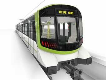 Alstom will supply 212 Metropolis cars, or 106 trainsets, for the completely automatic light-metro system.Photos via Alstom Design & Styling