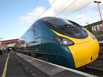 The first of the revolutionary tilting Pendolino trains entered service on the London to Glasgow route in January 2003.