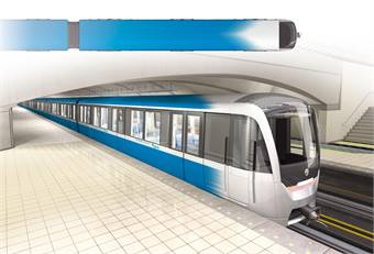 A rendering of the future STM metro trains that the new Canadian facility will build. Photo courtesy STM.
