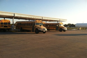 Alvin ISD used an $80,000 grant to upgrade to a higher volume pump and dispenser to service its growing propane autogas bus fleet.