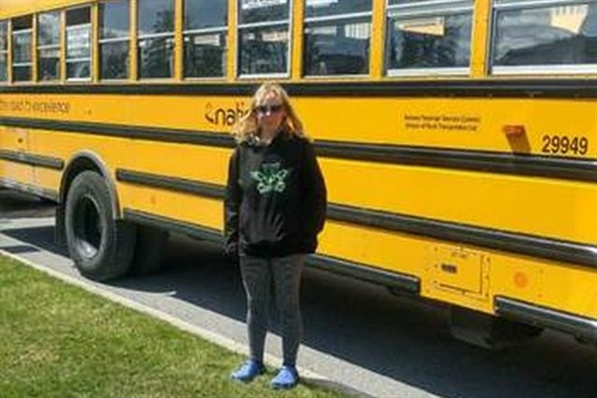 Amber Marie Power, a driver for Stock Transportation, earned an award from the Ottawa Student Transportation Authority for her efforts to ensure the well-being of a passenger.