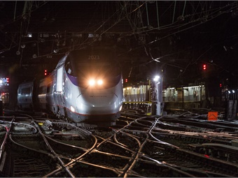 Amtrak Acela train at Penn Station. Photo: Amtrak