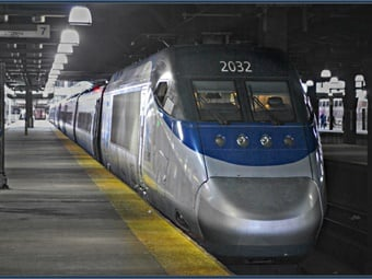 Amtrak Acela at Boston Station- Flickr - Loco Steve