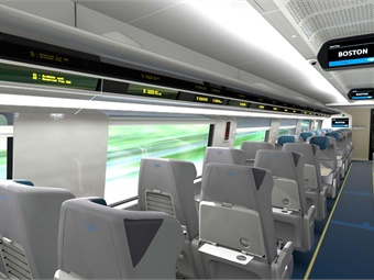 The new Acela trainsets include an advanced seat reservation system that easily distinguishes seat availability. Photos courtesy Amtrak