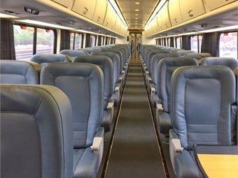 Amtrak has completed an extensive refresh of its train interiors on the entire Acela fleet, which travels along the Northeast Corridor (NEC) between Boston and Washington, D.C. Amtrak