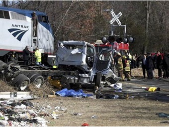 Screenshot of Crozet, Va. Amtrak train crash via NBC News.