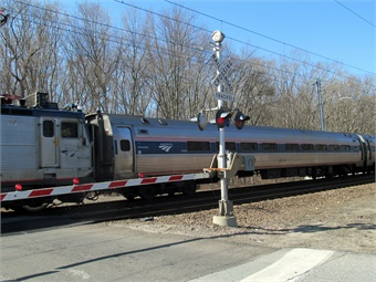 Amtrak train on NEC. Courtesy Amtrak