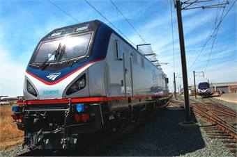Amtrak's Siemens Sprinter locomotive. Photos courtesy Siemens.