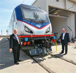 Amtrak President/CEO Michael Boardman and Siemens President Michael Cahill.
