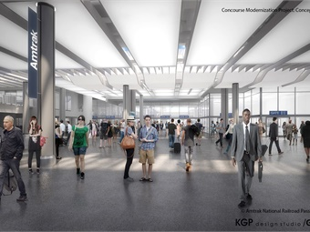 Amtrak will expand Washington, D.C.'s Union Station concourse to double its capacity, which will alleviate congestion and enhance customer comfort and accessibility. Image: Amtrak