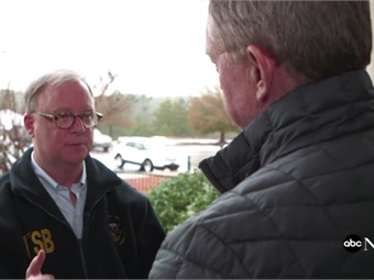 NTSB Chairman Robert Sumwalt discusses the Amtrak 91 crash. Screenshot via ABC News