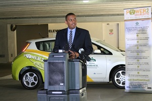 Anthony Foxx has served as mayor of Charlotte, N.C., since 2009. He is seen here at an electric vehicle event.