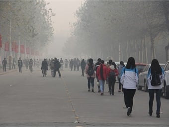 View of air pollution in Anyang, China 2014. Photo: V.T. Polywoda via Flickr/Creative Commons