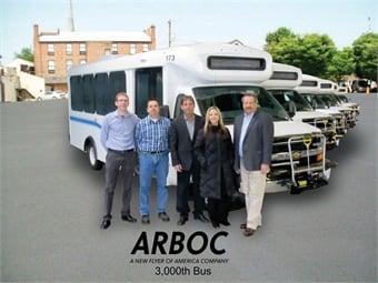 (L to R) David Jackson, City of Sarnia; Barry Barker, City of Sarnia; Bob Nunn, Creative Carriage; Kim Yoder, ARBOC Specialty Vehicles; and Don Roberts, ARBOC Specialty Vehicles.