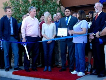 Family members, leadership team members, local Chamber of Commerce officials, vendors, friends, clients and team members were all present to help celebrate a historical moment for Arrow Stage Lines.