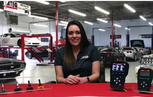 Sheila Stevens steps through a tool update in an Ateq TPMS Tech Tips video.