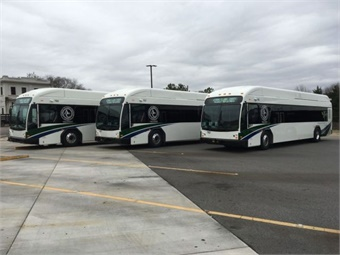 The hybrid buses use nickel metal hydride  batteries and a hybrid drive system and meet the newest clean air standards issued by the federal Environmental Protection Agency.