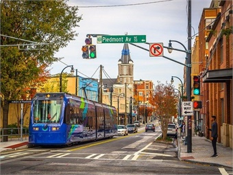 The four-car light rail system will be part of MARTA's new Office of Light Rail Operations. Image: MARTA