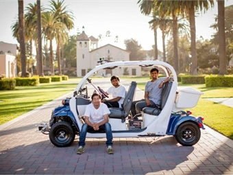 Santa Clara University will be the beta test site for autonomous shuttles (Photo credit: Joanne H. Lee/Santa Clara University)