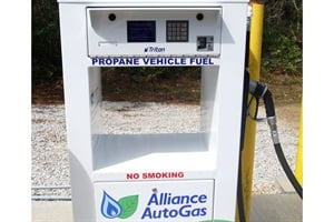 Features of Alliance AutoGas' new T3MR Fleet Fuel Management System include a durable card reader system, data management, real-time communications and an ultra-low-emission fueling nozzle.