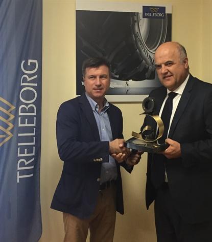 Trelleborg accepted the award on July 26.