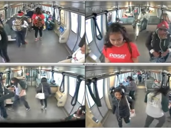 BART screenshot of surveillance videos.