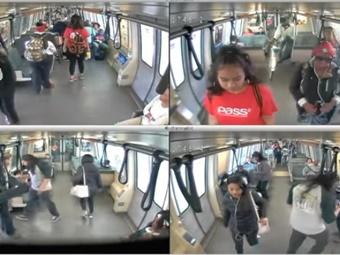 BART screenshot of surveillance videos.