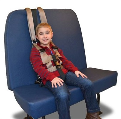 BESI developed the Safe Journey Seat Mount to make safety vests tamper-resistant for students who have difficulty staying seated.