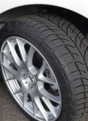Michelin will begin selling BFGoodrich brand tires to consumers through its website in September. The g-Force Comp-2 A/S tire is pictured.