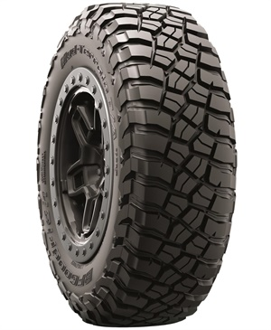 Michelin says the new BFGoodrich brand Mud-Terrain T/A KM3 tire features technologies that improve climbing, traction and toughness in the mud and over rock versus the prior generation.