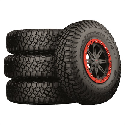 The BFGoodrich Mud-Terrain T/A KM3 tire is available in three UTV sizes, and two more are coming in November: 32x10.00R14 and 32x10.00R15.