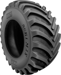The radial tire Agrimax RT 600 is particularly suitable for land that requires great care and attention, according to BKT.