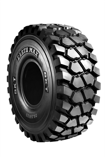 BKT says new reinforced connecting bridges in the tread of the Earthmax SR 41 enable articulated dump trucks to operate on particularly difficult terrain.