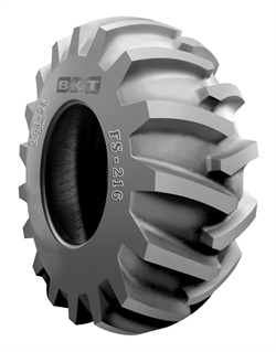 The FS 216 is designed for forwarders and skidders and comes in eight sizes in steel-belted or aramid-belted versions.