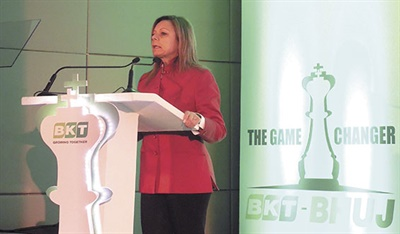 Also speaking at the event was Lucia Salmaso, BKT managing director, BKT Europe.