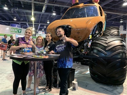 At the 2019 SEMA Show fans lined up to meet Monster Jam driver Linsey Read and see her Scooby-Doo truck.
