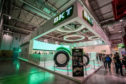 BKT unveiled a new, bigger booth at the agricultural event in Paris.
