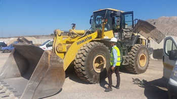 Increased investment in construction projects has boosted the use of small OTR equipment and demand for small OTR tires in the U.S. market. Photo courtesy of BKT