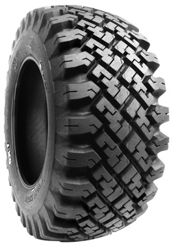 The Snow Trac tire for skid steersfeatures a special tread design that's good on ice, and is also comfortable for operators.